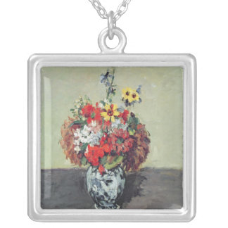 Flowers in a Delft vase, c.1873-75 Silver Plated Necklace