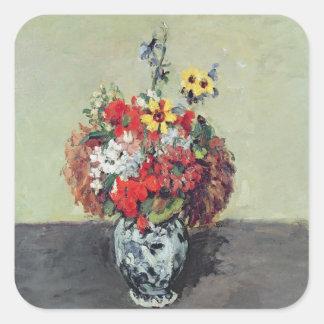 Flowers in a Delft vase, c.1873-75 Square Sticker