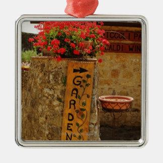 Flowers in a garden, Monteriggioni, Siena Metal Ornament