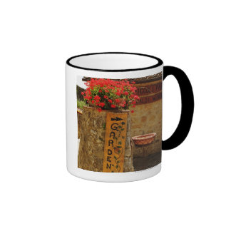 Flowers in a garden, Monteriggioni, Siena Ringer Coffee Mug