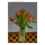 """Flowers In A Glass Vase"" Card"