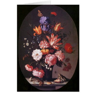 Flowers in a Glass Vase Card