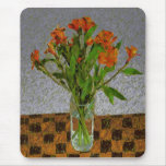 """""""Flowers In A Glass Vase"""" Mouse Pad"""