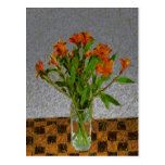 """Flowers In A Glass Vase"" Postcard"
