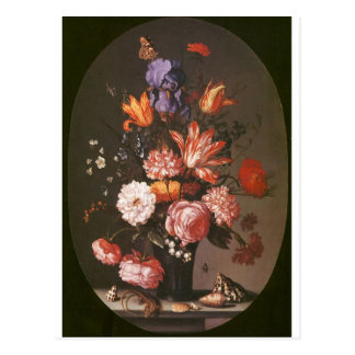 Flowers in a Glass Vase Post Card
