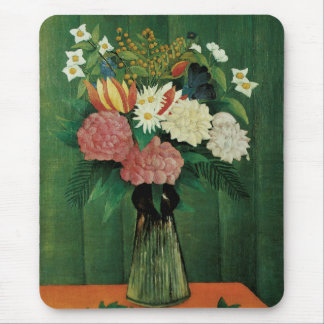Flowers in a Green Vase Mouse Pad