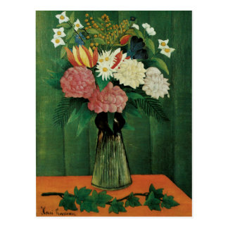 Flowers in a Green Vase Post Cards
