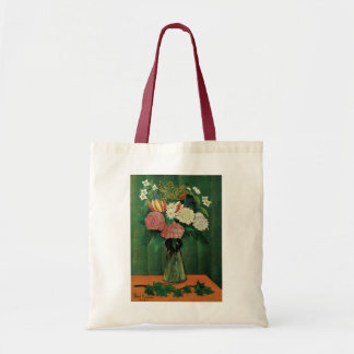 Flowers in a Green Vase Tote Bag