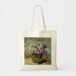 Flowers in a Pot - Claude Monet Tote Bag
