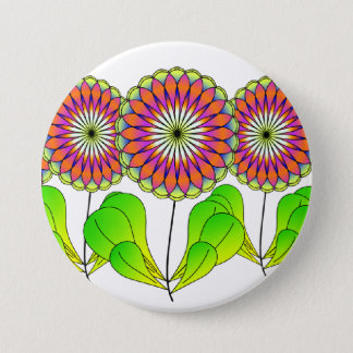 Flowers in a Row Button