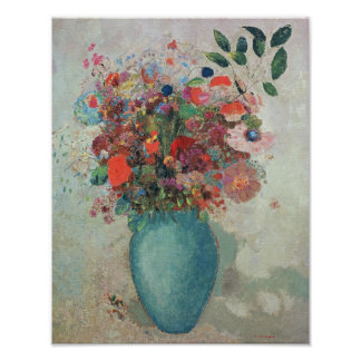 Flowers in a Turquoise Vase, c.1912 Poster