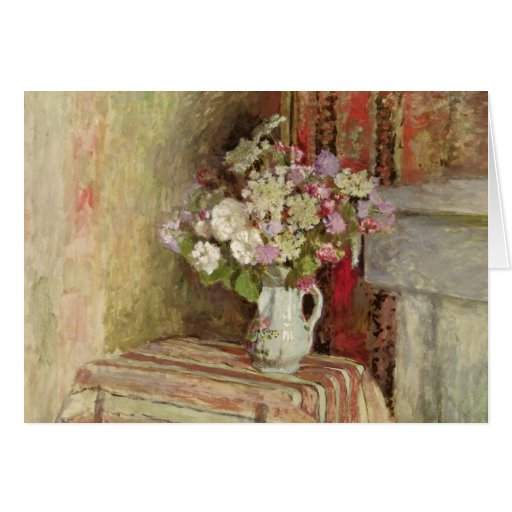 Flowers in a Vase, 1905 Greeting Card