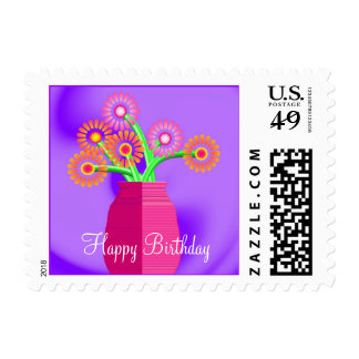 Flowers in a Vase, Birthday Postage