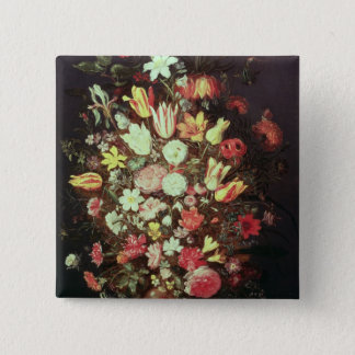 Flowers in a vase button