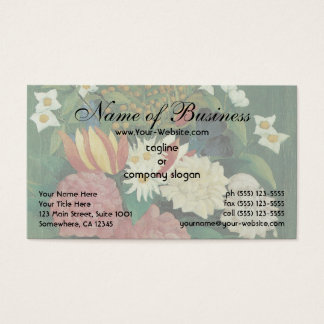 Flowers in a Vase by Henri Rousseau Vintage Floral Business Card