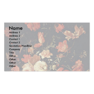 Flowers In A Vase By Mignon Abraham Double-Sided Standard Business Cards (Pack Of 100)