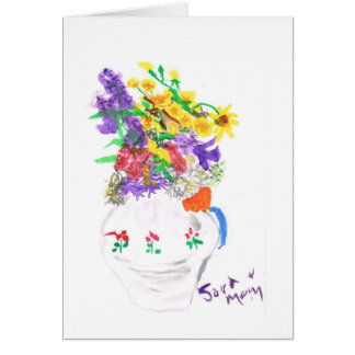Flowers in a Vase Card