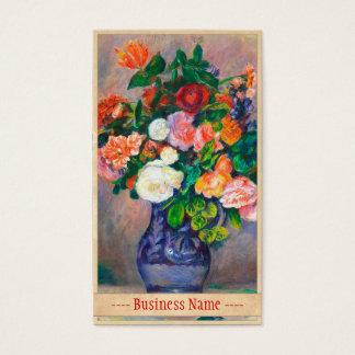 Flowers in a Vase Pierre Auguste Renoir painting Business Card