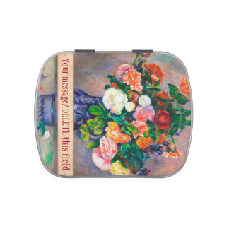 Flowers in a Vase Pierre Auguste Renoir painting Jelly Belly Candy Tin