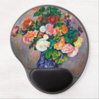 Flowers in a Vase Pierre Auguste Renoir painting Gel Mouse Pad