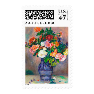 Flowers in a Vase Pierre Auguste Renoir painting Postage