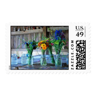 Flowers in a Vase Postage Stamp