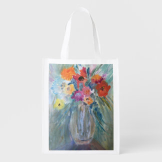 Flowers in a Vase Reusable Bag