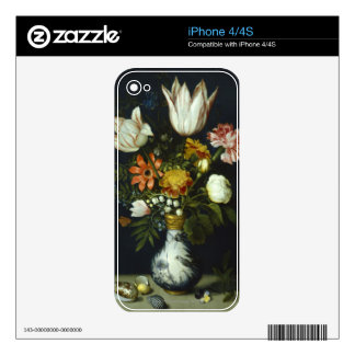 Flowers in a Vase Skin For iPhone 4S