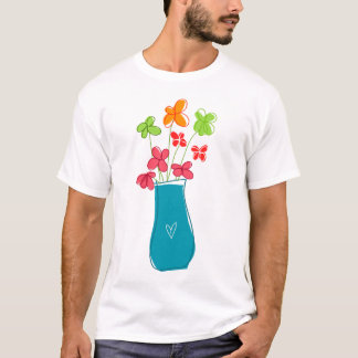 Flowers in a vase T-Shirt