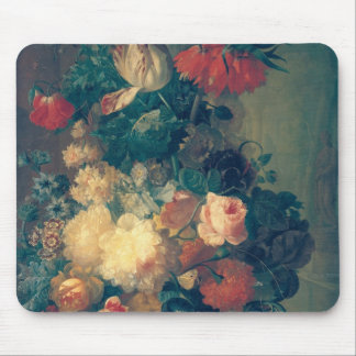 Flowers in a Vase with a Bird's Nest Mouse Pad