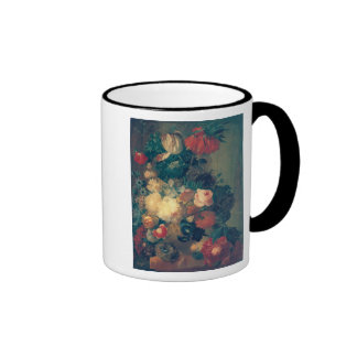 Flowers in a Vase with a Bird's Nest Mugs