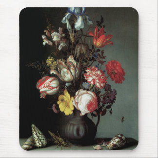 Flowers in a Vase with Shells and Insects Mouse Pad