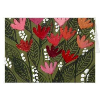 Flowers in an a dream field card
