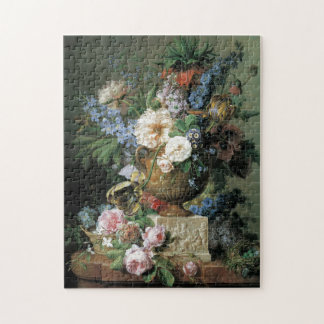 Flowers in an Alabaster Vase Jigsaw Puzzle