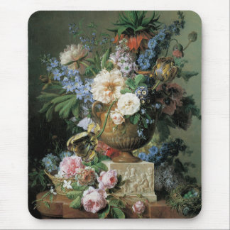 Flowers in an Alabaster Vase Mouse Pad