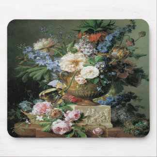 Flowers in an Alabaster Vase Mousepads