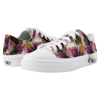 Flowers in Anguish Low-Top Sneakers