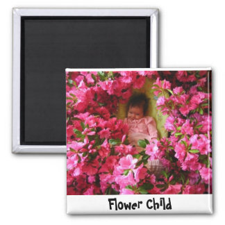 Flowers in April, Flower Child 2 Inch Square Magnet