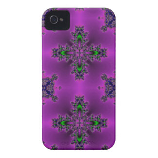 flowers in artdeco retro look purple green blue iPhone 4 cover
