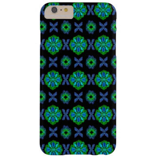 Flowers in artdeco retrolook green and blue barely there iPhone 6 plus case