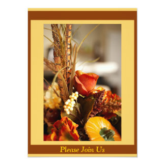Flowers in Autumn Colors - 5.5x7.5 Paper Invitation Card