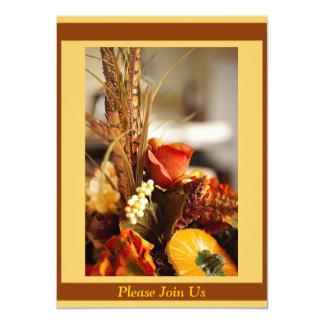 Flowers in Autumn Colors - 4.5x6.25 Paper Invitation Card
