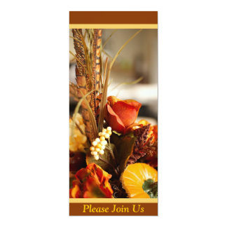 Flowers in Autumn Colors - 4x9.25 Paper Invitation Card