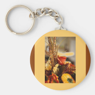 Flowers in Autumn Colors - Keychain