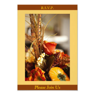 Flowers in Autumn Colors - RSVP Card