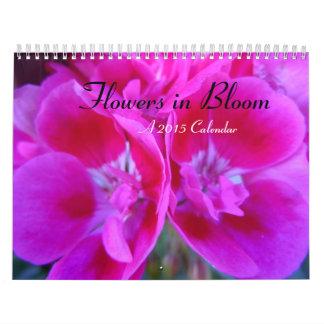 Flowers in Bloom 2015 Wall Calendar