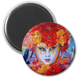 Flowers in Bloom 2 Inch Round Magnet
