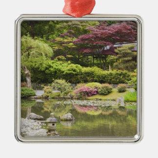 Flowers in bloom at Japanese Garden, Metal Ornament