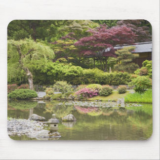 Flowers in bloom at Japanese Garden, Mouse Pad
