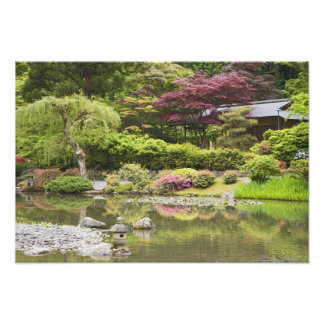 Flowers in bloom at Japanese Garden, Photo Print